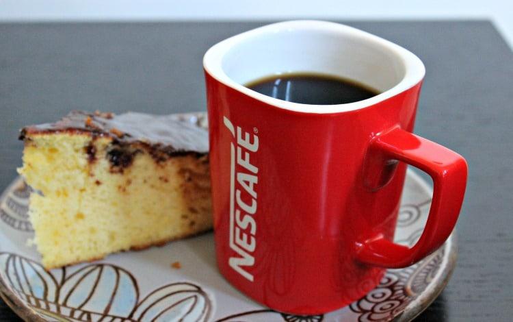 café, pastel, nescafé