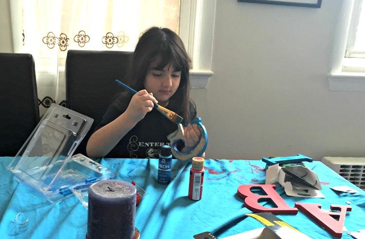 niña, pintar, arte, manualidad