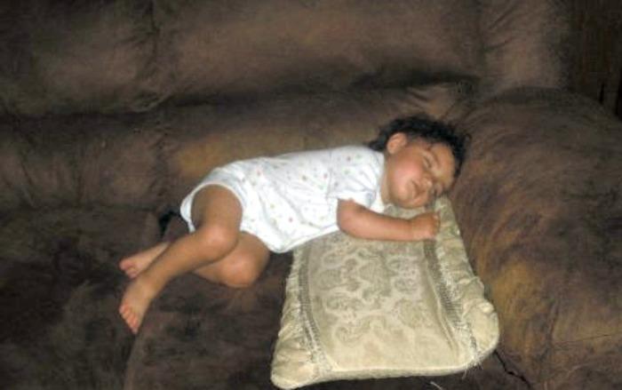 sarah durmiendo