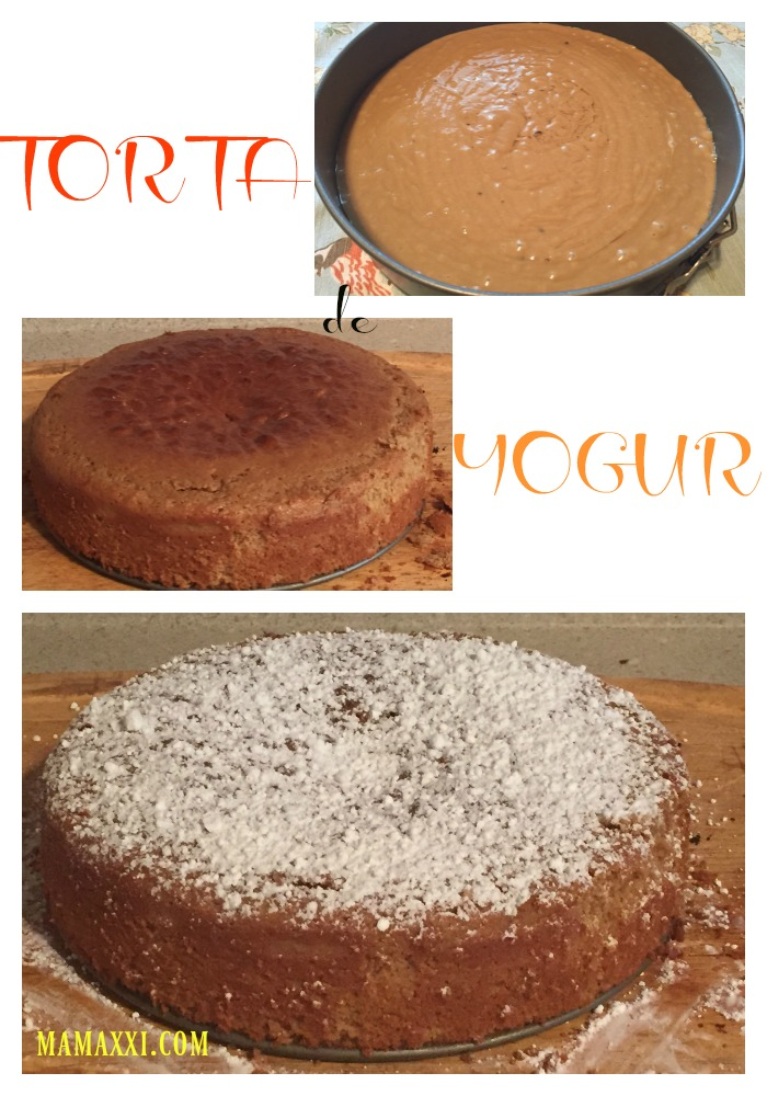 torta, yogur, receta