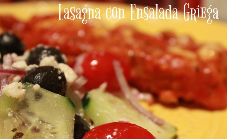 comida, plato, cena, alimentacion, comida rápida, lasagna, ensalada griega, ensalada