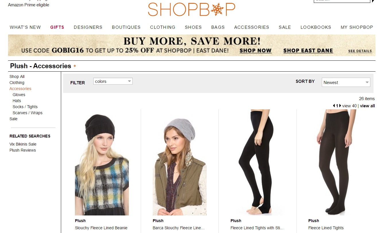 shopbop, diseñadores