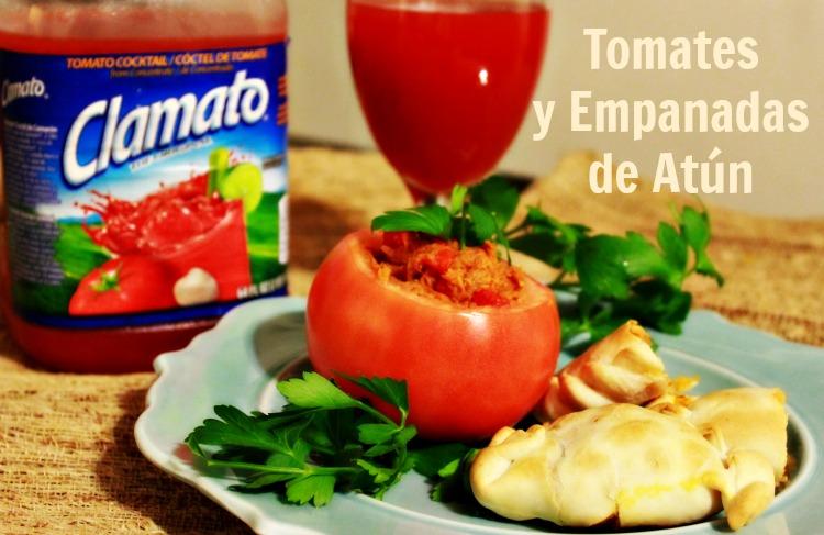 receta, atún, relleno, tomate