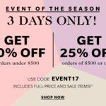 Evento de grandes ahorros en Shopbop