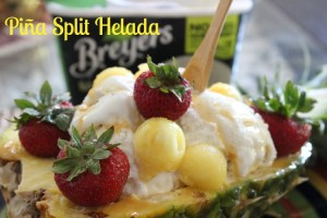 helado, postre, receta, piña, romina tibytt, influencer, blogger