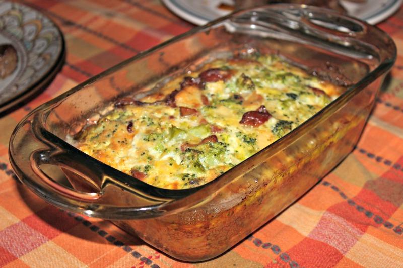 brocoli, coliflor, quiche, soufflé, queso, receta