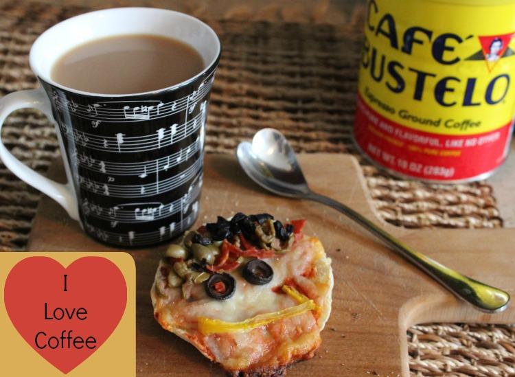 cafe, bustelo, pizza, cafe hispano, latinos, desayuno