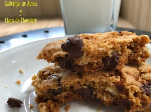 receta, galleta, avena, chips chocolate