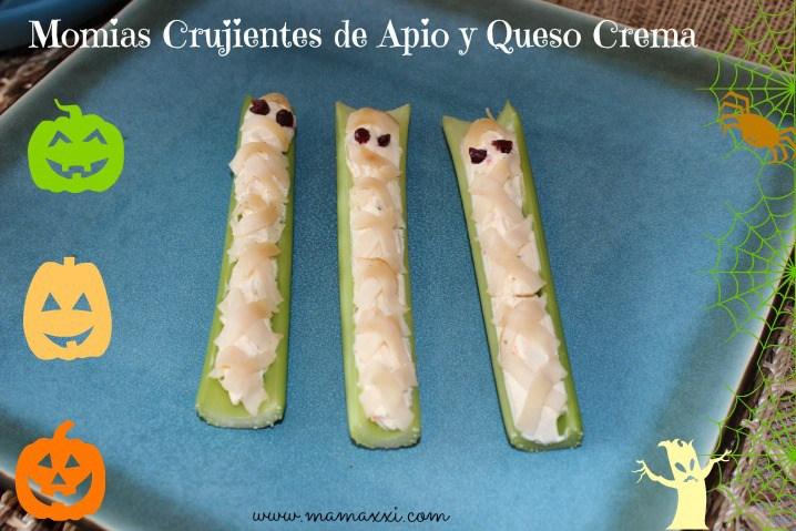 momias, halloween, receta saludable, bocaditos vegetales, comida niños, queso