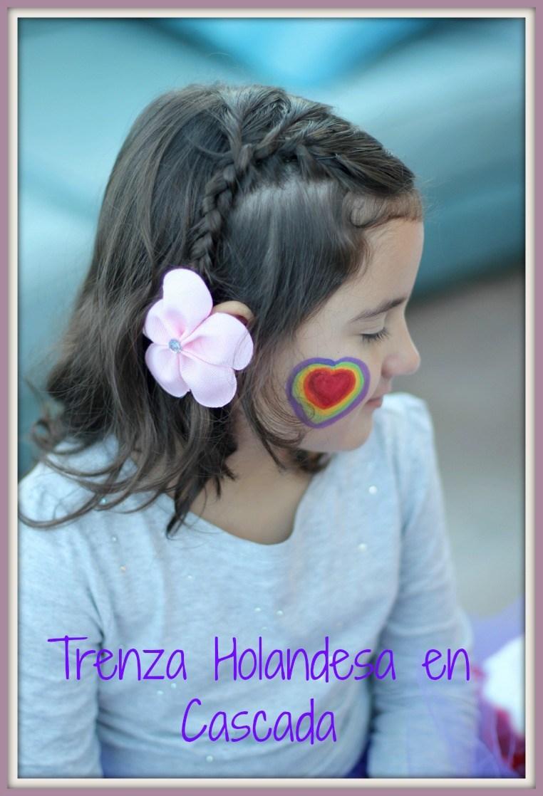 peinado niña, princesa, halloween, disfraz