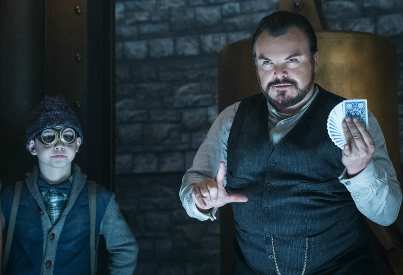 house with a clock in its walls, jack black, cate balnchet, movie, película, niños, universal