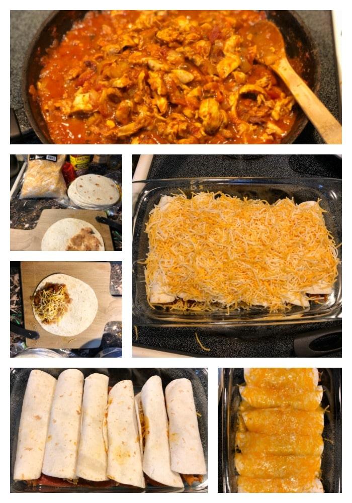 receta, enchiladas fáciles, receta mexicana, comida, paso a paso