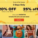 Renew your spring/summer closet saving money at Shopbop