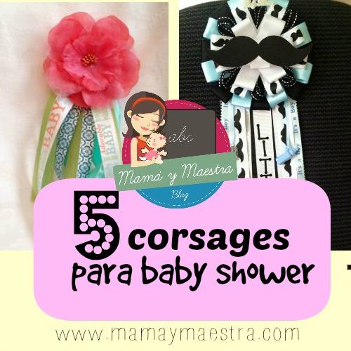 6f3937024 Corsages o distintivos para baby shower (fáciles y económicos ...