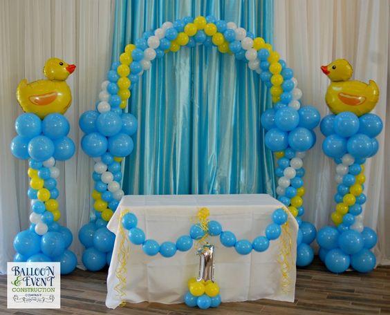 Ideas para decorar baby shower de patos mam y maestra for Donde comprar globos