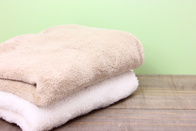バスタオルを最初に洗う方法。新品の糊を落とすのに一度は洗う必要あり