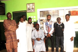 GROUP PICTURE WITH IMAM MOZU AT KWABENYA CENTRAL MOSQUE