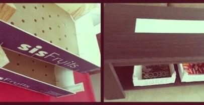 Reciclando cajas de fruta: un par de revisteros :)
