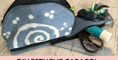 DIY VUELTA AL COLE ESTUCHE CARACOL (3 en 1: ovalado, plano y redondo)
