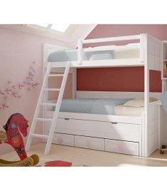 litera-blanca-con-3-camas-y-cajones