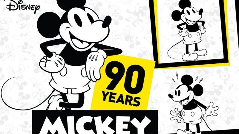 Celebramos el 90 aniversario de Mickey mouse.