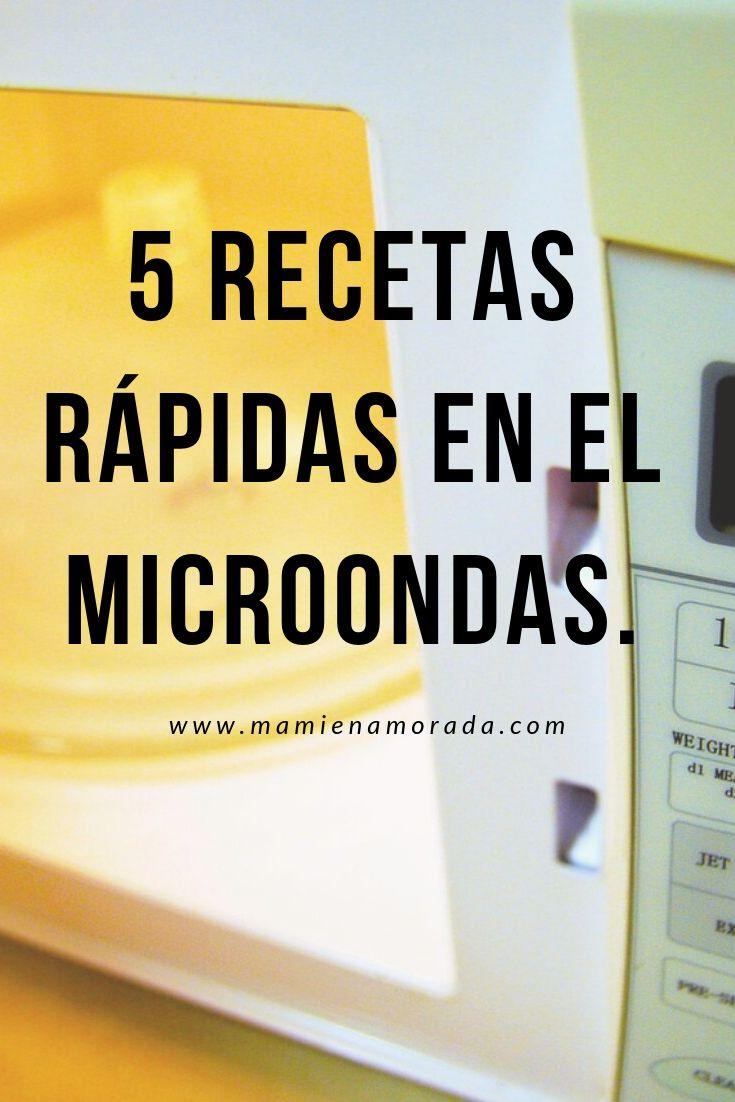5 recetas rápidas en el microondas.
