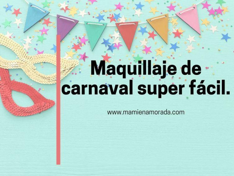 Maquillaje de carnaval súper fácil con snazaroo.