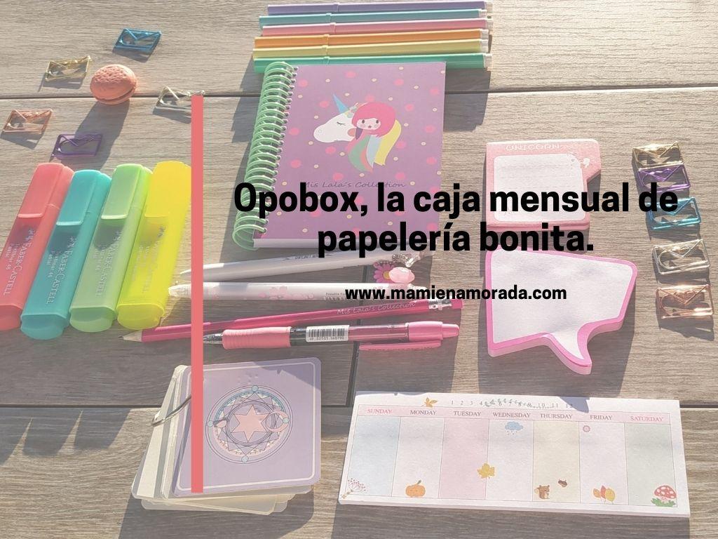 Opobox, la caja mensual sorpresa de papelería bonita.