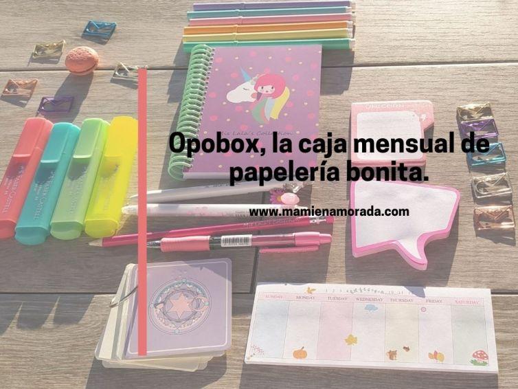 Opobox, la caja mensual  con artículos de papelería sorpresa.