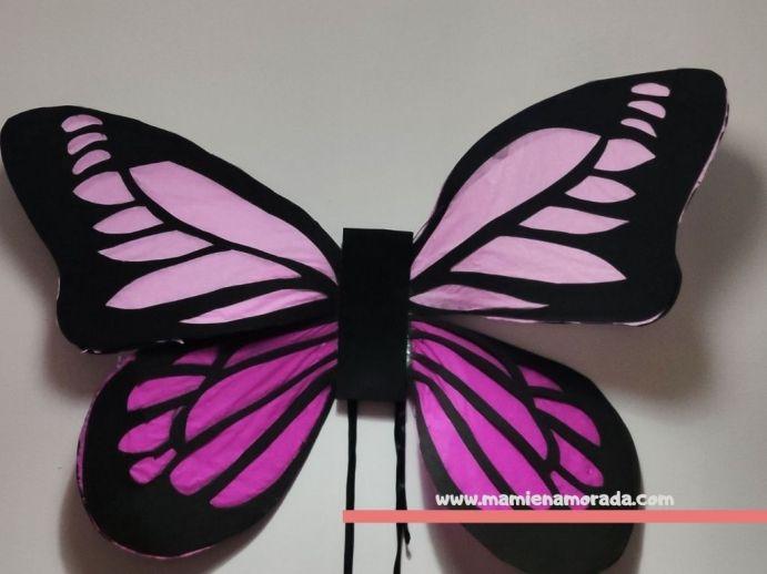 Alas de mariposa con papel crepe 🦋 , tutorial paso a paso para poder hacer tus alas de mariposa con p
