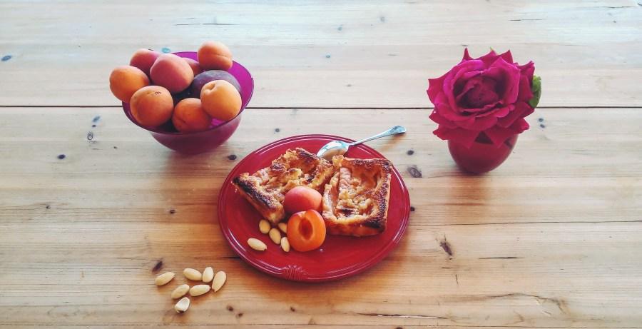 tarte aux abricots et pêches à la crème d'amande