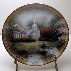Hometown Chapel Collector Plate By Thomas Kinkade