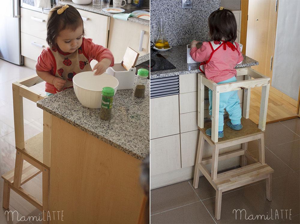 Torre de aprendizaje material montessori mamilatte for Espejo montessori