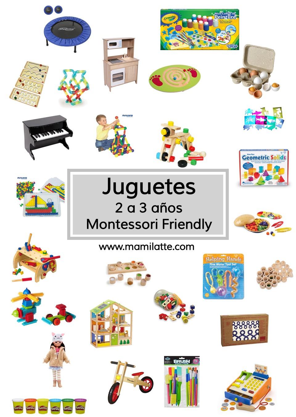 Juguetes de 2 a 3 años Montessori friendly. – Mamilatte