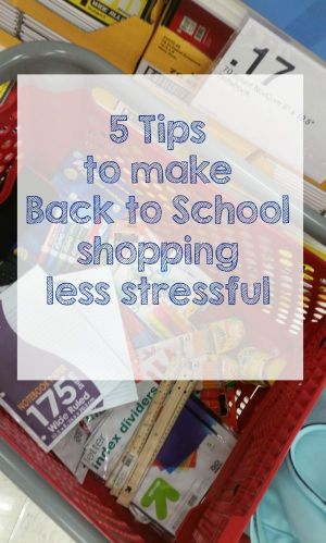 5 Tips to make back to school shopping less stressful
