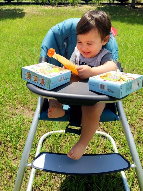 Baby Joshua eating Yummy Spoonfuls