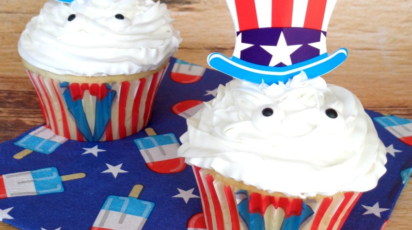 4th of July Uncle Sam Cupcakes