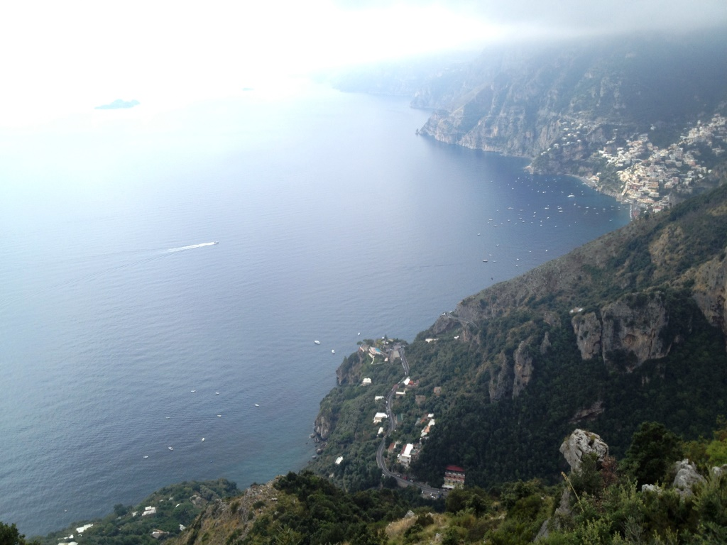 View of the Amalfi Coast from the Path of the Gods Hike