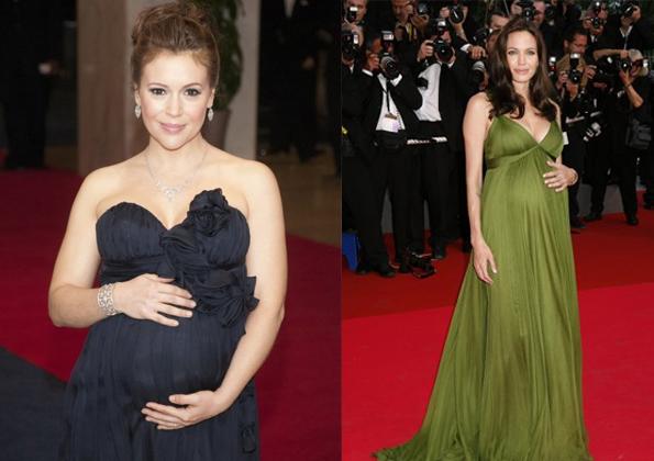 Angelina y Alyssa embarazadas