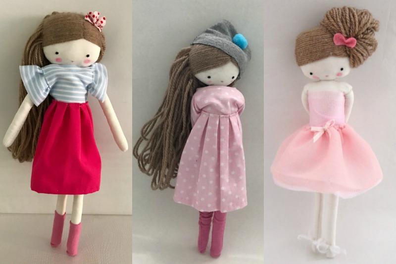 Las sandalias de ana muñecos de tela