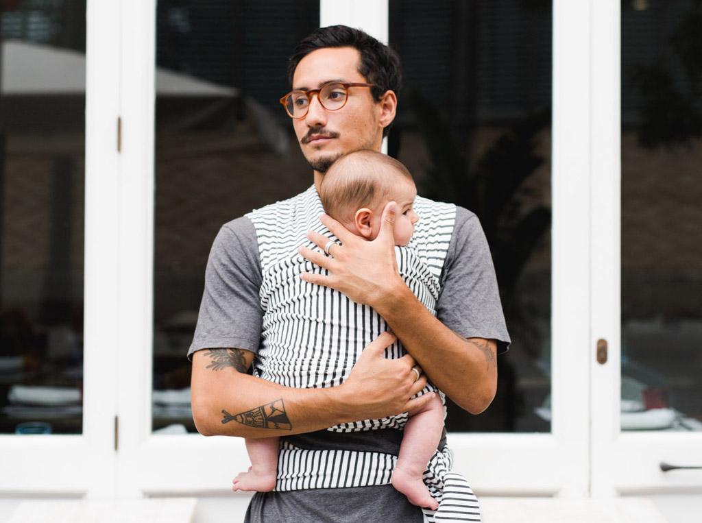 Baby on earth fular elastico portabebe rayas 1