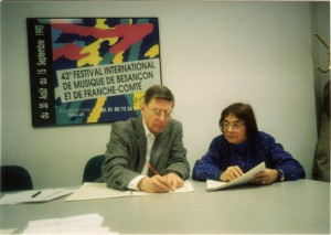 Ursula Mamlok mit Herbert Blomstedt