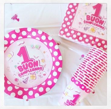 festa tema piatti primo compleanno irpot