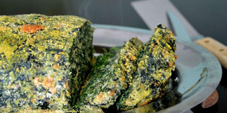 polpettone vegetariano di spinaci