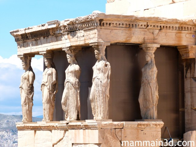 Acropoli di Atene: loggetta delle Cariatidi