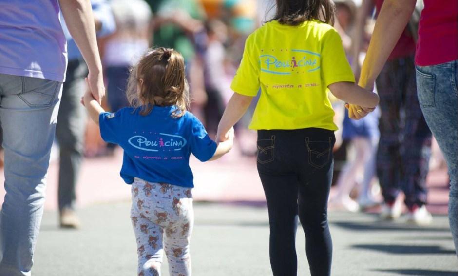 Pollicina, la maglietta antismarrimento per bambini
