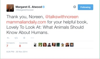 Margaret Atwood tweets Noreen