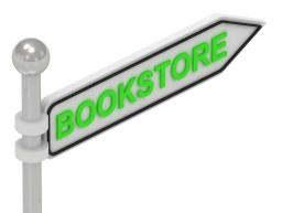 BOOKSTORE word on arrow pointer