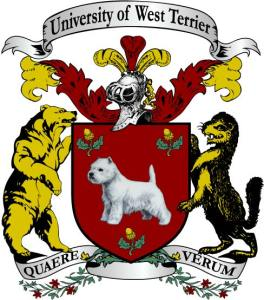 University of West Terrier coat of arms