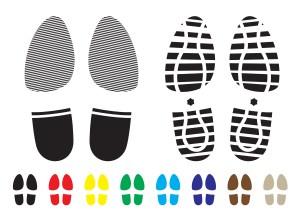 Human foot traffic